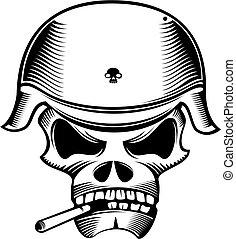 skull head - black and white skull head pattern design.