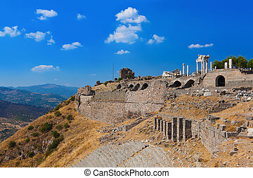 Ruins in ancient city of Pergamon Turkey - Ruins in ancient...