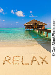 Word Relax on beach