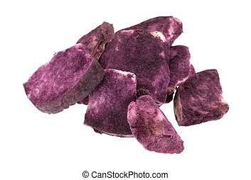 Freeze dried apples in Maqui berry powder - Group of freeze...