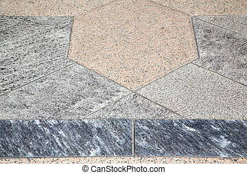 villadosia street pavement of a curch and marble -...