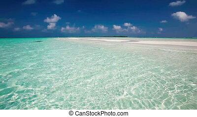 Romantic sandy beach in Maldives - Romantic sandy beach with...