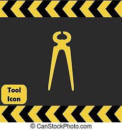 Nippers icon, repairing service tool sign
