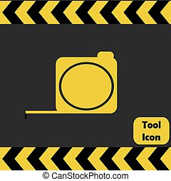 Tape measure icon,  repairing service tool sign