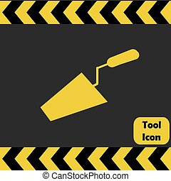 Trowel icon, repairing service tool sign