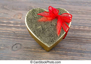 box heart-shaped gift - a box for a gift in the form of a...