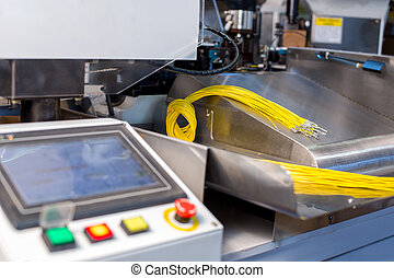 Image of machine for cutting and crimping wires - Image of...