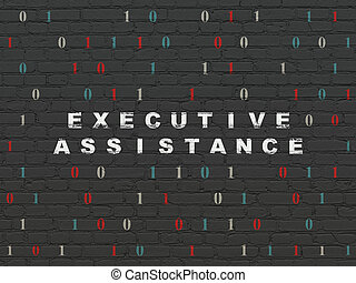 Business concept: Executive Assistance on wall background