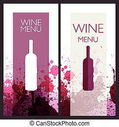 Vector Wine Design Template - Vector Illustration of Wine...