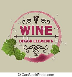 Vector Wine Design Template