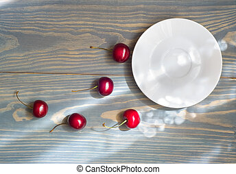 Cherries on a table - The concept image about the...