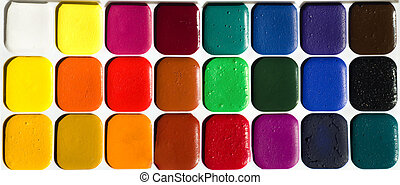 Water colour paints - Different set of watercolors in the...