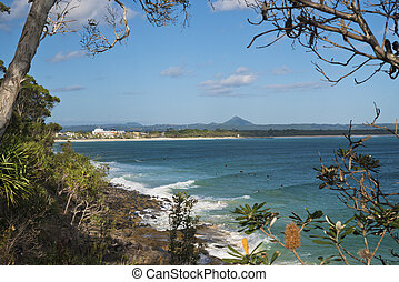 Noosa Heads Little Cove - Peeking through native bushland at...