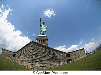 Liberty statue in New York - liberty statue in New York, USA