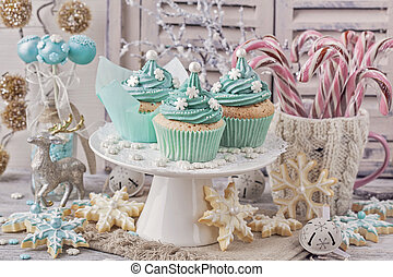 Pastel colored sweets for christmas