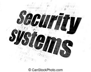 Safety concept: Security Systems on Digital background