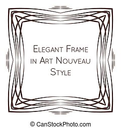 Elegant vector frame in art nouveau