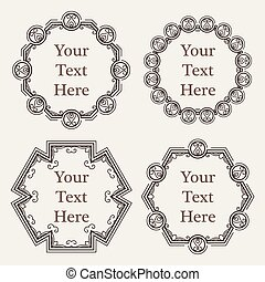 Vector ornate richly decorated vintage frame in Victorian style
