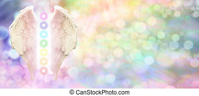 Angel Wings and Seven Chakras - Angel wings and seven...