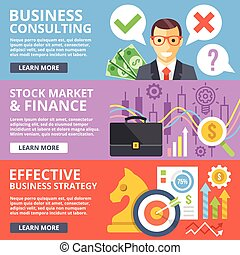 Business consulting, stock market