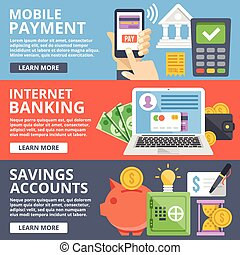 Mobile payment, internet banking