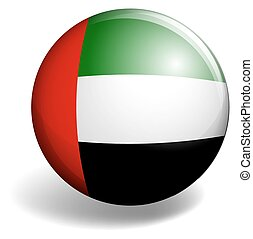 United Arab Emirates flag on round badge
