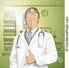 Doctor With Stethoscope - doctor man with stethoscope shows...