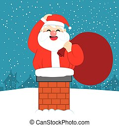 Fat Santa Christmas Chimney