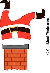 Fat Santa Legs Chimney