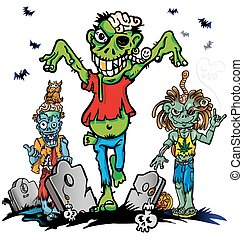 fun zombie cartoon