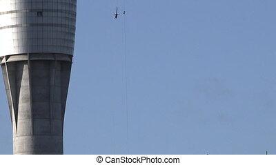 Bungee jump off Auckland Sky Tower - Tilt down Bungee jump...