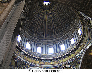 Rome: St Peters Dome - The St Peters Dome in Vatican, Rome