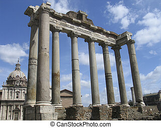 Rome: The ruins of the ancient roman forum - The Roman Forum...