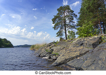 Ladoga lake in Karelia - beautiful landscape on Ladoga lake...
