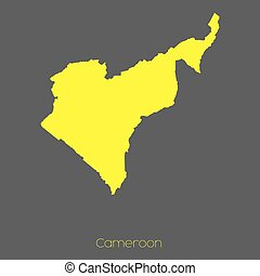 Map of the country of Cameroon - A Map of the country of...