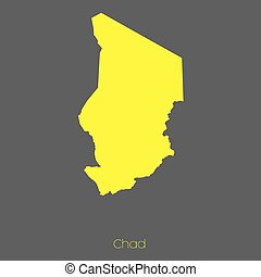 Map of the country of Chad - A Map of the country of Chad