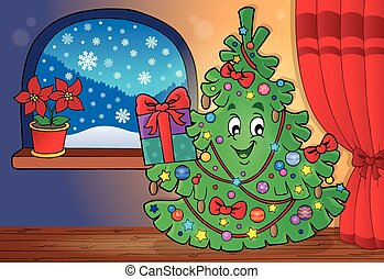 Christmas tree topic image 3 - eps10 vector illustration.