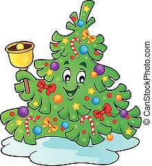 Christmas tree topic image 4 - eps10 vector illustration.