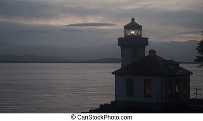 Lime Kiln Lighthouse Haro Strait Maritime Nautical Beacon -...