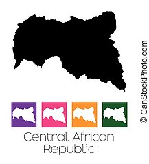 Map of the country of Central African Republic - A Map of...