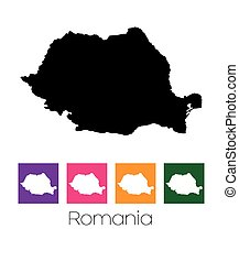 Map of the country of Romania - A Map of the country of...