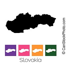 Map of the country of Slovakia - A Map of the country of...