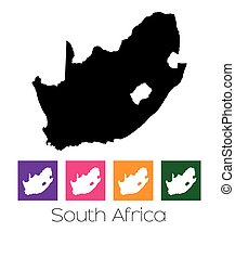 Map of the country of South Africa