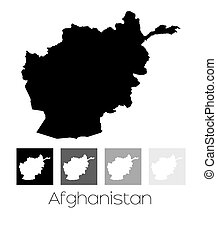 Map of the country of Afghanistan - A Map of the country of...