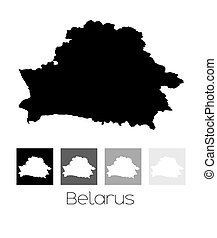 Map of the country of Belarus - A Map of the country of...