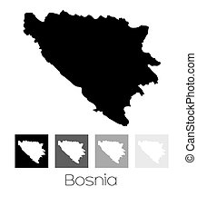 Map of the country of Bosnia - A Map of the country of...