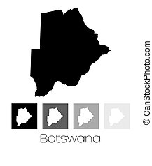Map of the country of Botswana - A Map of the country of...