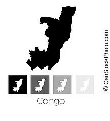 Map of the country of Congo - A Map of the country of Congo