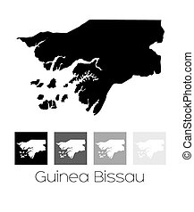 Map of the country of Guinea Bissau - A Map of the country...