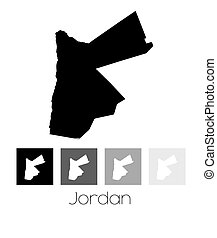 Map of the country of Jordan - A Map of the country of...